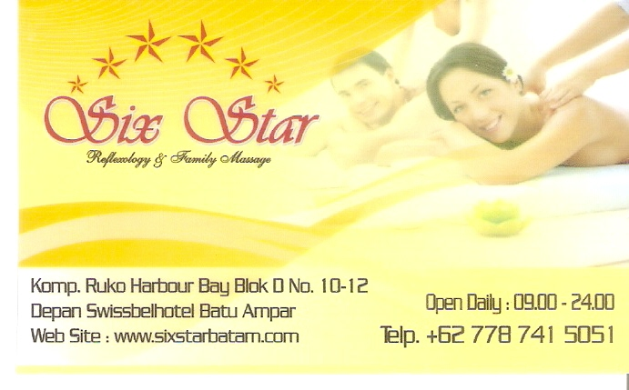 Six Stars Massage, Batam Oct 2013